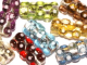 Dotty Cylinder Lampwork Beads (Czech)