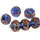 Copper Swirl Lampwork Beads (Czech)
