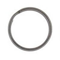 25mm Split Ring Gunmetal Plated x 4