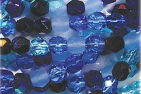 Blue Tones 6mm Fire-polish Bead Mix x50