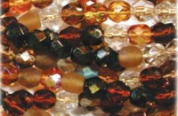 Wheatberry 8mm Fire-polish Bead Mix x50