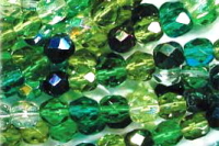 Evergreen 8mm Fire-polish Bead Mix x50