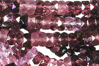 Lilac/Amethyst  6x3mm Fire-polish Rondelle Mix x60