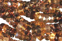 Wheatberry 6x3mm Fire-polish Rondelle Mix x60