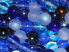 Blue Tones 4mm Round Bead Mix x100