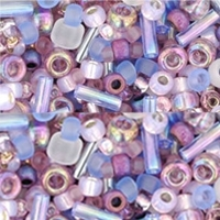 Violet/Lavender Toho Seed Bead Mix