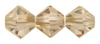 Golden Shadow 4mm Bicone 5328 Swarovski Crystal x 20