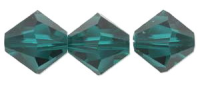 Emerald 6mm Bicone 5328 Swarovski Crystal x9
