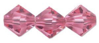 Rose 6mm Bicone 5328 Swarovski Crystal x10