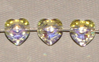 Crystal (AB) 8mm Heart Bead Swarovski Crystal x1