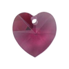 Fuchsia 14mm Heart Swarovski Crystal x1