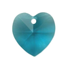 Blue Zircon 14mm  Heart  Swarovski Crystal x1
