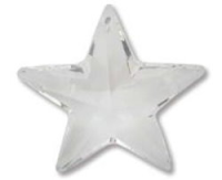 Crystal Clear 20mm Star Pendant Swarovski Crystal x1