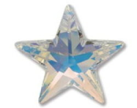 Crystal (AB) 28mm Star Pendant Swarovski Crystal x1
