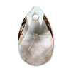 Silver Shade 16mm Pear Drop Swarovski Crystal x1
