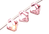 Light Rose 8mm Bicone Pendant Swarovski Crystal x1