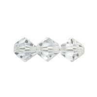 6mm Crystal Clear Preciosa Crystal Bicone x 72