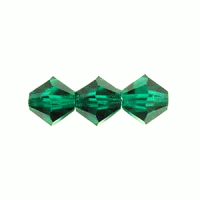 6mm Emerald Preciosa Crystal Bicone x 72