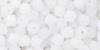 Milky White 4mm Bicone Czech Crystal x10