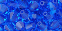 Capri Blue 6mm Bicone Czech Crystal x10