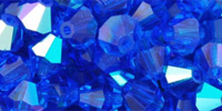 Capri Blue (AB) 6mm Bicone Czech Crystal x10