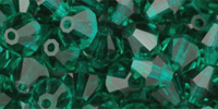 Emerald 6mm Bicone Czech Crystal x10