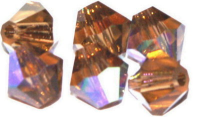 Smokey Topaz (AB) 6mm Bicone Czech Crystal x10