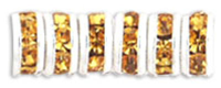 Topaz 4.5mm Crystal Rondelle Silver Plated x 10