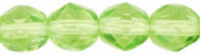 Lime 4mm Czech Fire-polish Bead x50