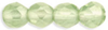 Peridot  Lustre 4mm Czech Fire-polish Bead x 50