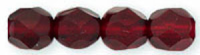 Garnet 6mm Czech Fire-polish Bead x25
