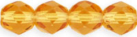 Topaz 6mm Czech Fire-polish Bead x25