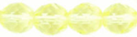 Jonquil Lemon 6mm Czech Fire-polish Bead x25