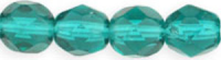 Dark Emerald 8mm Czech Fire-polish Bead x1