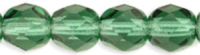 Prairie Green 8mm Czech Fire-polish Bead x1