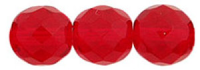 Siam Red 10mm Czech Fire-polish Bead x1