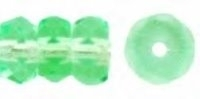 Peridot Green 6x3mm Fire-polish Rondelle x10