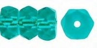 Light Teal 6x3mm Fire-polish Rondelle x10