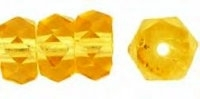 Amber Topaz 6x3mm Fire-polish Rondelle x10