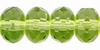 Olivine 7x5mm Fire-polish Rondelle Bead x25