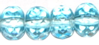 Lt. Aqua 7x5mm Fire-polish Rondelle Bead x25