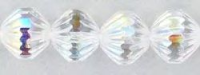 Crystal (AB) 9mm Fire-Polish Fluted Bead x 1