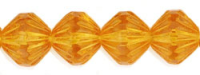 Topaz 9mm Fluted Czech Fire-Polish Bead x10