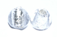 Crystal 8mm Round Silver Foil Czech Lampwork Bead x1