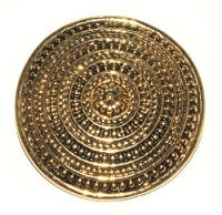 Disc Pendant Antique Gold Plated x1