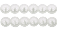 Snow White 3mm Glass Pearl Bead  x10