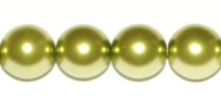 Olivine 4mm Glass Pearl Bead x10