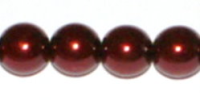 Burgundy 4mm Glass Pearl Bead x10