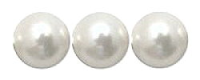 White 6mm Glass Pearl Bead x10