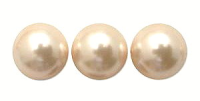 Nude Pink 6mm Glass Pearl Bead x10
